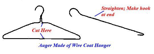 wire coat hanger method