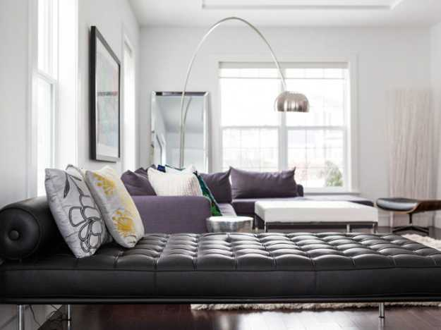 black accent interior design