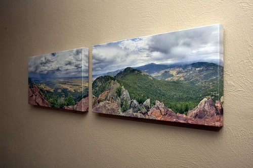 canvas print on wall