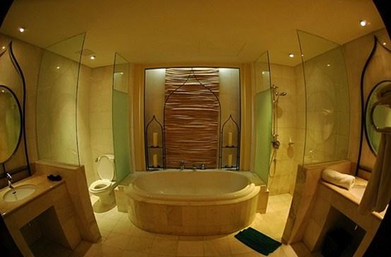 bathroom with spa features