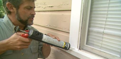 applying caulk